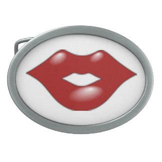 Hebilla del cinturón del beso del labio del amor hebilla de cinturon oval