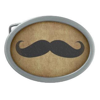 Hebilla del cinturón del bigote del vintage del bi hebilla cinturón oval