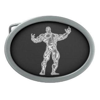Hebilla del cinturón del Bodybuilder del cromo Hebilla Cinturón Oval
