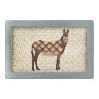 Hebilla del cinturón del burro de la tela escocesa hebillas de cinturón rectangulares