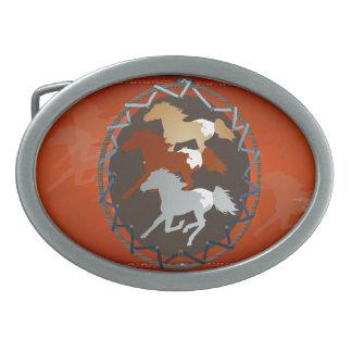 Hebilla del cinturón del caballo y del escudo hebilla de cinturón oval