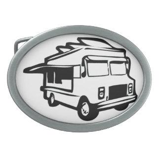 Hebilla del cinturón del camión de la comida hebilla cinturón oval
