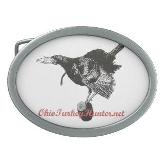 Hebilla del cinturón del cazador del pavo de Ohio Hebilla De Cinturón Oval