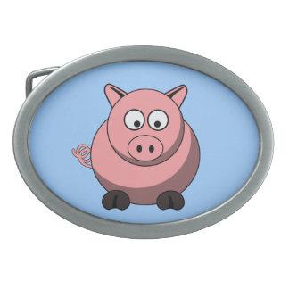 Hebilla del cinturón del cerdo del dibujo animado hebilla de cinturón oval