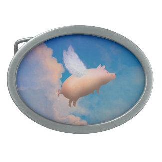 hebilla del cinturón del cerdo del vuelo hebilla de cinturón