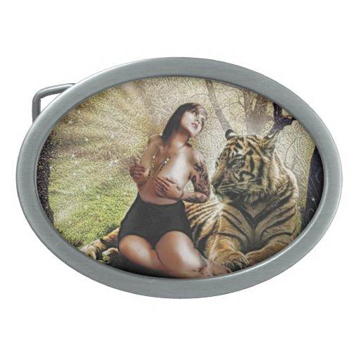 hebilla del cinturón del chica del surrealismo hebillas de cinturón ovales