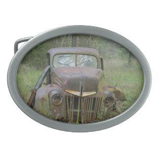 Hebilla del cinturón del coche antiguo hebilla cinturon oval