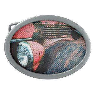 Hebilla del cinturón del coche de bomberos hebilla de cinturon oval