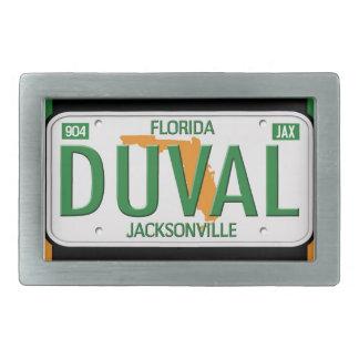 Hebilla del cinturón del condado de Duval Jacksonv Hebilla Cinturón Rectangular