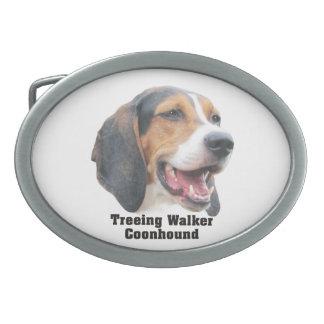 Hebilla del cinturón del Coonhound del caminante d Hebillas Cinturón Ovales