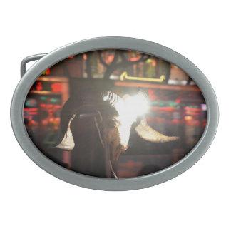 Hebilla del cinturón del cráneo del espolón hebillas de cinturón ovales