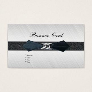 Hebilla del cinturón del cuero del negro de la tarjetas de visita