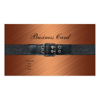 Hebilla del cinturón del cuero del negro del tarjetas de visita
