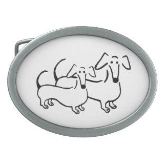 Hebilla del cinturón del Dachshund Hebilla Cinturon Oval