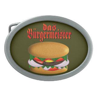 hebilla del cinturón del das Burgermeister Hebillas De Cinturón Ovales