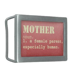 Hebilla del cinturón del día de madre de la hebillas de cinturón rectangulares