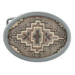 Hebilla del cinturón del diseño de la manta de Nav Hebillas De Cinturon Ovales
