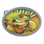 Hebilla del cinturón del diseño de la rana arbórea hebilla de cinturon oval