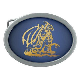 Hebilla del cinturón del dragón del oro hebilla cinturon