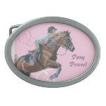 Hebilla del cinturón del Equestrian del poder del  Hebilla De Cinturón Oval