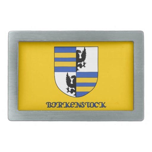 Hebilla del cinturón del escudo de la familia de B Hebillas Cinturon Rectangulares