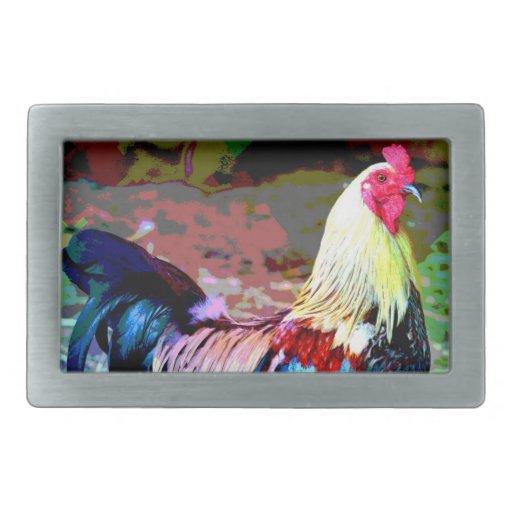 Hebilla del cinturón del gallo hebillas de cinturon rectangulares