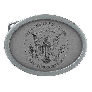 Hebilla del cinturón del Grunge de los Estados Hebilla Cinturón Oval