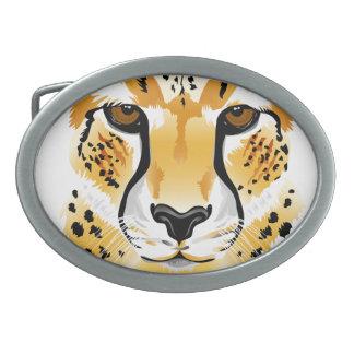 Hebilla del cinturón del guepardo hebillas cinturón ovales