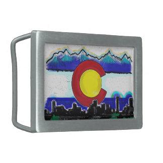 Hebilla del cinturón del horizonte de Denver de la Hebilla Cinturon