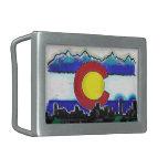 Hebilla del cinturón del horizonte de Denver de la Hebillas De Cinturon Rectangulares