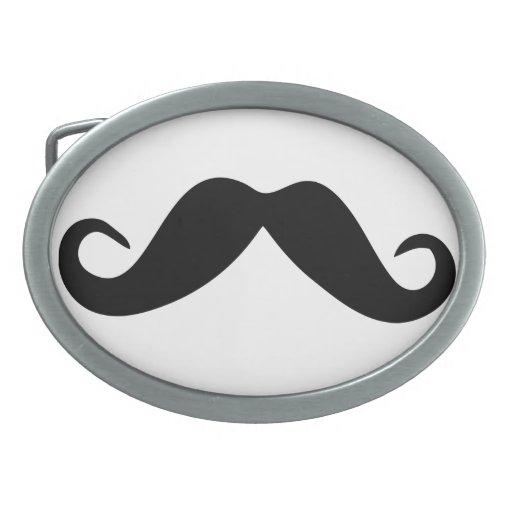 Hebilla del cinturón del labio del pelo del bigote hebillas de cinturón ovales