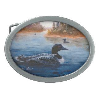 Hebilla del cinturón del lago loon hebilla de cinturón oval