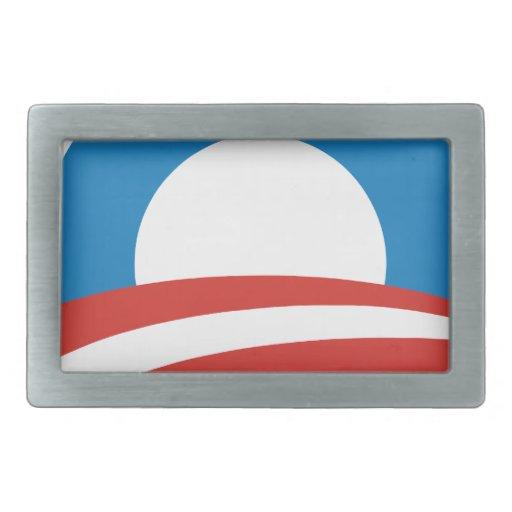 Hebilla del cinturón del logotipo de Obama Hebillas De Cinturon Rectangulares