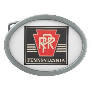 Hebilla del cinturón del logotipo del ferrocarril  hebillas cinturon ovales