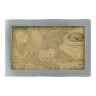 Hebilla del cinturón del mapa de los E.E.U.U. Hebilla Cinturón