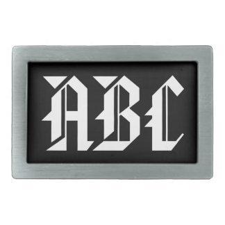 Hebilla del cinturón del monograma con iniciales hebillas de cinturón rectangulares
