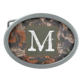 Hebilla del cinturón del monograma de Camoufla de Hebillas De Cinturón Ovales