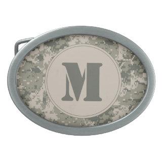 Hebilla del cinturón del monograma de Digitaces Hebilla De Cinturón Oval
