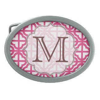 Hebilla del cinturón del monograma del enrejado de hebillas cinturón ovales
