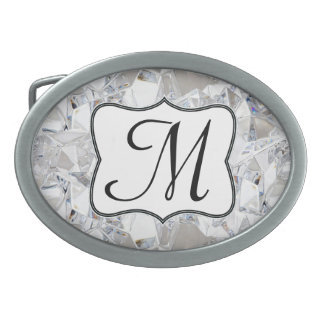 Hebilla del cinturón del monograma del Glitz del Hebillas De Cinturón Ovales