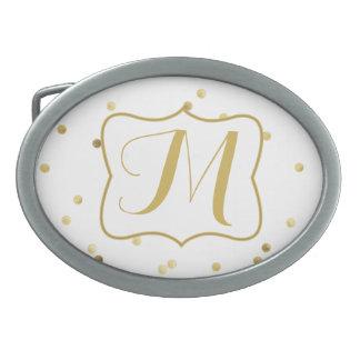 Hebilla del cinturón del monograma del político hebillas de cinturon ovales