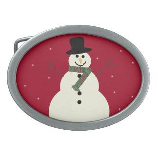 Hebilla del cinturón del muñeco de nieve hebilla de cinturón oval