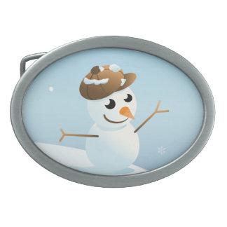 Hebilla del cinturón del muñeco de nieve hebillas de cinturón ovales