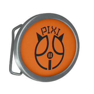 Hebilla del cinturón del naranja de Pixipig Hebillas De Cinturón