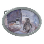 Hebilla del cinturón del óvalo de los pingüinos de hebillas de cinturon ovales