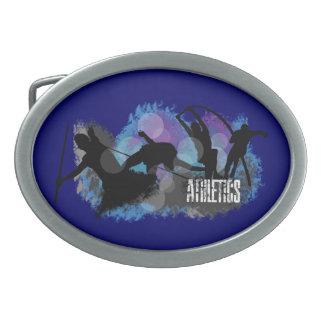 Hebilla del cinturón del óvalo del atletismo hebillas cinturón ovales