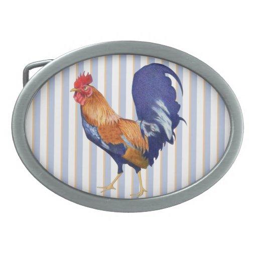 Hebilla del cinturón del óvalo del gallo hebillas de cinturon ovales