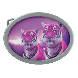Hebilla del cinturón del óvalo del tigre hebillas cinturon ovales
