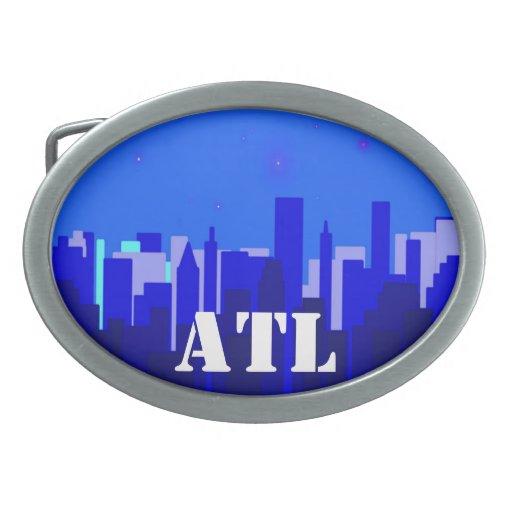 Hebilla del cinturón del paisaje urbano de ATL Hebillas Cinturon Ovales