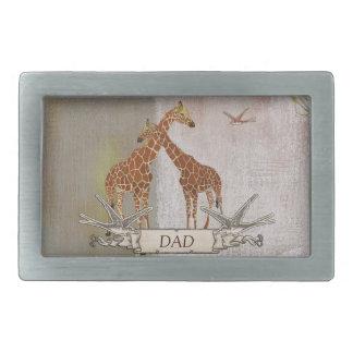 Hebilla del cinturón del papá de las jirafas hebilla cinturon rectangular